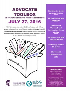 Advocate Toolbox Flyer 2016